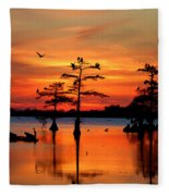 Sunset On The Bayou Fleece Blanket