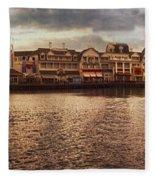 Sunset On The Boardwalk Walt Disney World Fleece Blanket