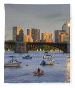 Sunset On The Charles Fleece Blanket