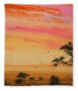 Sunset On The Coast Fleece Blanket