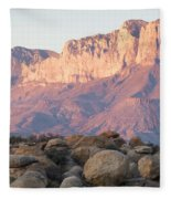 Sunset On The Guadalupe Mountains Fleece Blanket