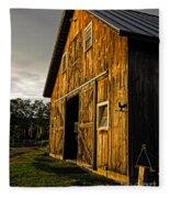 Sunset On The Horse Barn Fleece Blanket