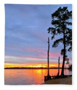 Sunset On The James River Fleece Blanket