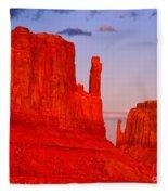 Sunset On The Mittens Fleece Blanket