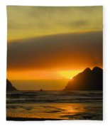 Sunset On The Oregon Coast Fleece Blanket