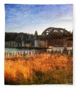 Sunset On The Siuslaw River Fleece Blanket