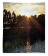 Sunset On The Volga River Fleece Blanket