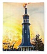 Sunset On The Windmill Fleece Blanket