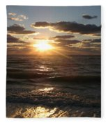 Sunset On Venice Beach  Fleece Blanket