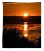 Sunset On Winnesheik Fleece Blanket