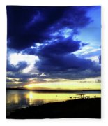 Sunset Over Aurora II Fleece Blanket