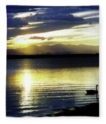 Sunset Over Aurora Fleece Blanket