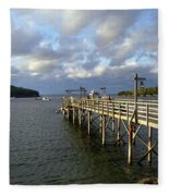 Sunset Over Bar Harbor Fleece Blanket