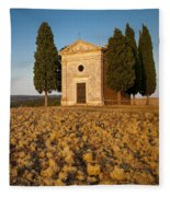 Sunset Over Cappella Di Vitaleta Fleece Blanket