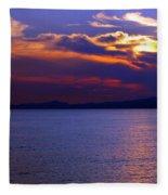 Sunset Over Korcula Fleece Blanket