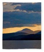 Sunset Over Lake Pend Oreille Fleece Blanket