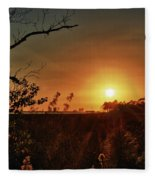 Sunset Over Little Lagoon Bayou Fleece Blanket