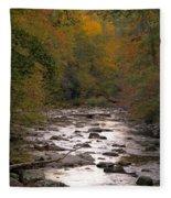 Sunset Over Little River Fleece Blanket