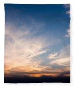 Sunset Over Maine Fleece Blanket