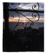 Sunset Over Puerto Vallarta Fleece Blanket