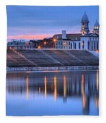 Sunset Over The Clinton County Courthouse Fleece Blanket