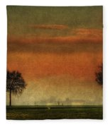 Sunset Over The Country Fleece Blanket