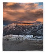 Sunset Over The Dunes Fleece Blanket