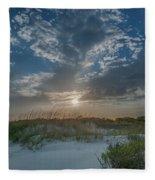 Sunset Over The Dunes Fleece Blanket