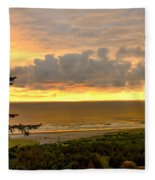 Sunset Over The Pacific Ocean Fleece Blanket