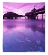 Sunset Over The Pier Fleece Blanket