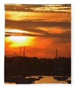 Sunset Over The Salem Willows Fleece Blanket