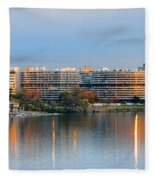 Sunset Over Watergate Fleece Blanket