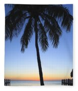 Sunset Palm Fleece Blanket