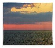 Sunset Panorama Over Atlantic Ocean Fleece Blanket