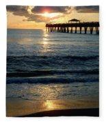 Sunset Pier Fleece Blanket