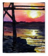 Sunset Pier Fleece Blanket