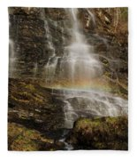 Sunset Rainbow At Amicalola Falls Fleece Blanket
