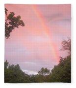 Sunset Rainbow Fleece Blanket