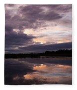 Sunset Reflected In A Lake Fleece Blanket