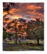 Sunset Reflections And Life Fleece Blanket