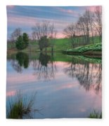 Sunset Reflections Square Fleece Blanket