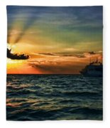 Sunset Regatta  Fleece Blanket