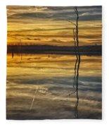 Sunset Riverlands West Alton Mo Dsc03317 Fleece Blanket