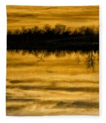 Sunset Riverlands West Alton Mo Sepia Tone Dsc03319 Fleece Blanket
