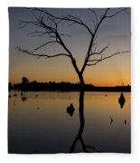Sunset Riverlands West Alton Mo Portrait Dsc06670 Fleece Blanket