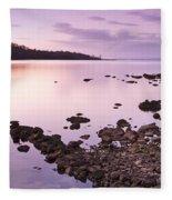 Sunset Rocks Fleece Blanket