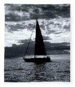 Sunset Sailing -2 Fleece Blanket