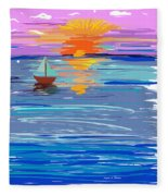 Sunset Sailing Fleece Blanket
