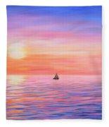 Sailing Toward The Lighthouse Fleece Blanket