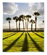 Sunset Sentinels Fleece Blanket